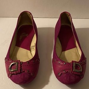 Vintage Dior Magenta Flats